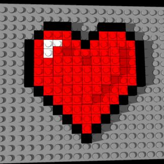 3D Pixel RVN Heart